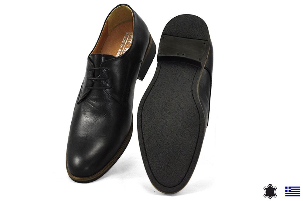 d39092488ab Μαύρα Ανδρικά Δερμάτινα Ανατομικά Σκαρπίνια Pit-Bull παπούτσια 1700